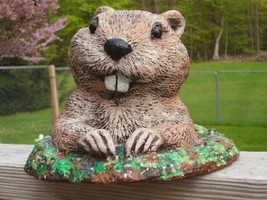 Ground Hog concrete statuary hand painted, made in the USA - $29.99