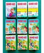 Lot 9 BAND-AID Adhesive Bandages Disney Frozen Fairies Jake Assorted Siz... - $14.95