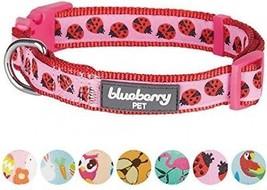 Blueberry Pet 7 Patterns Ladybug Designer Basic Dog Collar, Small, Neck 12 -16 - $32.91