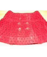 Girl's Size 5 Gap Kids Red Black Polka Dot Velour Pleated Mini Skirt EUC - $14.00