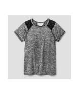 c9 Champion Girls Short Sleeve Keyhole Tech T-shirt Gray XS (4-5) - $2.15