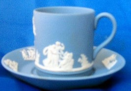WEDGWOOD JASPER COFFEE CUP AND SAUCER ENGLAND - $39.60