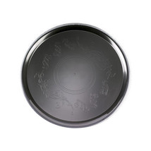 Black 16 Inch Deli Mate Plastic Trays/Set of 25 - $81.74