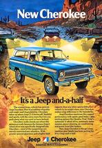 1974 Jeep Cherokee - Promotional Advertising Poster - $9.99+