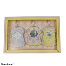 Decoral Baby Girl Shadowbox Picture Frame Hanging Dresses Pink Yellow 10... - $22.11