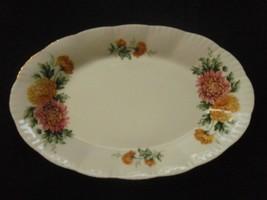 Paragon tray yellow pink mum flowers bone china - $10.88