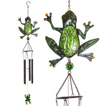 Glimmer and Glass Frog Wind Chime - $23.98