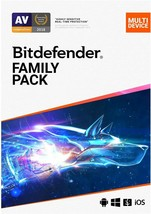 BITDEFENDER FAMILY PACK 2020 - INCLUDES VPN -  15 DEVICES  - 1 YEAR -  D... - $43.29