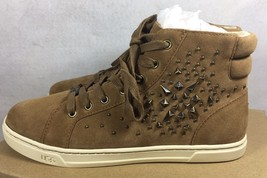 UGG Australia GRADIE DECO STUDS LEATHER Chestnut HIGH TOP SNEAKERS 1013911 image 2