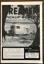 1966 Travel Industries Inc Oswego KS Print Ad Dreamer Pickup Coach Camper - $10.84