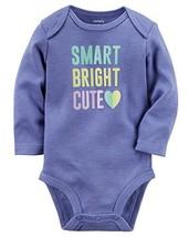 "Baby Girl Carters ""Smart Bright Cute"" Long Sleeve Bodysuit - $11.87"
