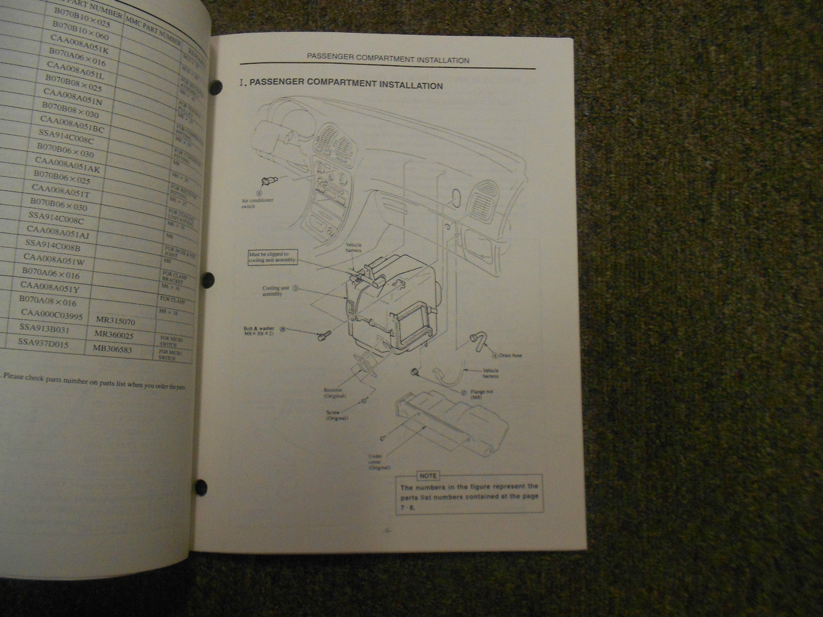 1997 MITSUBISHI Galant Air Conditioning Installation Instructions Service Manual