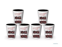 I'm a Teacher shot glass- Not a Miracle Worker -Teacher Gifts (6) - $29.35