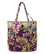 Vera Bradley Vera Tote in Plum Crazy with Plum Interior New w/ Defects $... - $64.95