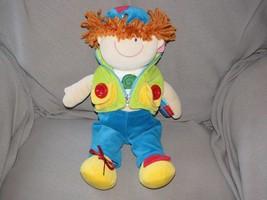"Russ Berrie ZIPPETY Teach Me To Dress Redhead Boy Doll Blue Green 13"" Plush - $34.64"