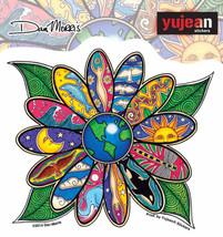 Small Mosaic Flower  Vinyl  Sticker   Hippie - $3.29