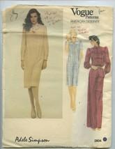 Vogue American Designer * Pattern 2804 Adele Simpson Misses' Dress & Tie Size 14 - $9.85