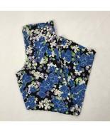 Women's Blue Wildfox Swim Floral Print Light Weight Pants Small sz S - $44.44