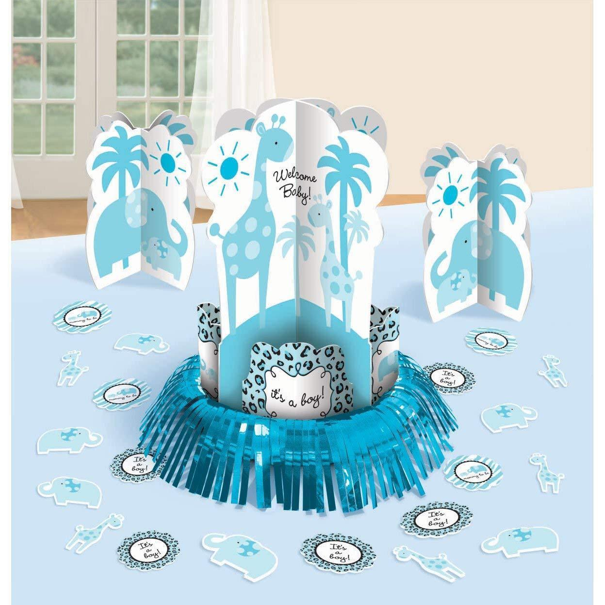 Blue Sweet Safari Table Decorating Kit 14""