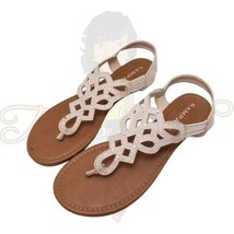 Rampage Carinna Women's Thong Open Toe Stretch Slip-On Flat Sandals Sz 7.5M - $20.00