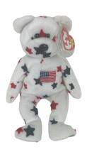 "TY Beanie Babies Vintage 1997 Glory USA Patriotic Stars Flag Bear Plush 8"" - $9.90"