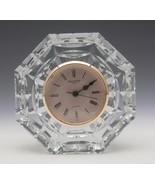 """Waterford Crystal Octagonal 5"""" Shelf/Mantel Clock - $49.99"""