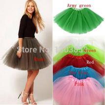 Women Girl Pretty Elastic Stretchy Tulle Teen 3 Layer Adult Tutu Skirt Pettiskir