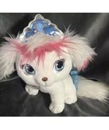 "Disney Princess Cinderella Palace Pets Pumpkin 9"" Plush White Puppy - $15.39"