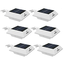 EASTERNSTAR [6 Pack] Solar Powered Gutter Lamp Outdoor,4 LED Solar Water... - $38.59