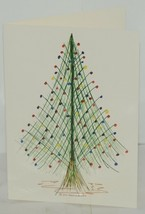 Contemporary Tree Frameable 5X7 Christmas Card Package 6 Envelope Included image 2