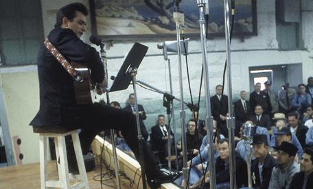 Johnny cash folsom prison guitar strap photo