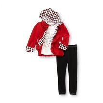 Toddler girl's size 18M & 2T red 3 piece ladybug jacket and leggings set - $15.99