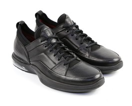 Mens Rockport Lace Up Sneakers - Black Leather, Size 9 M US - $109.99