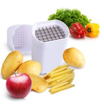 Hand Manual One Step Potato Chip Slicer Vegetable French Fry Cutter Slicers - $11.97