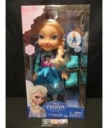 Disney Frozen Ice Skating Toddler Elsa Doll w/Ice Skates & Shoes Jakks P... - $51.12