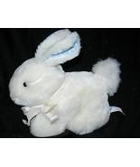 Vintage Eden Bunny Rabbit Plush Stuffed Animal Chime White Blue Gingham ... - $22.75