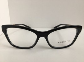New Versace Mod. 3214 GB1 Black 54mm Cats Eye Women's Eyeglasses Italy  - $179.99