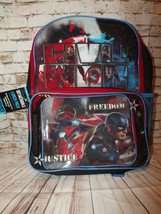 Captain America Civil War Kids Boys Backpack Detachable Lunch Pack Clear Pouch - $19.32