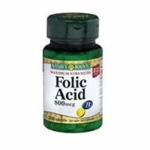 Nature's Bounty FOLIC ACID 800 mcg 250 Tablets Supports Cardiovascular Health* - $8.41