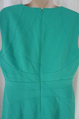 Anne Klein Pequeña Vestido 8P Kelly Verde con Textura A-Line sin Mangas Trabajo image 9