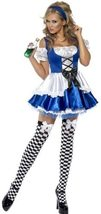 Women's Alice in Wonderland Costume, Dress and Hat, Troops image 4
