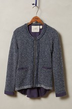 Nwt Anthropologie Envalira Navy Sweater Jacket By Angel Of The North M - $123.49