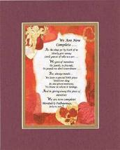 Touching and Heartfelt Poem for Loving Partners - We Are Now Complete .P... - $15.79