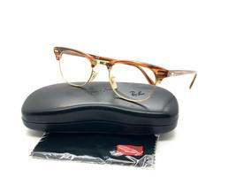 Ray Ban Eyeglasses Frames RX 5154 5751 Brown Beige Stripe Gold 49 21 140 - $75.63