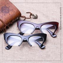 JASPEER Retro Cat Eye Glasses Frame Half Frames Female Brand Designer Eye Glasse image 5