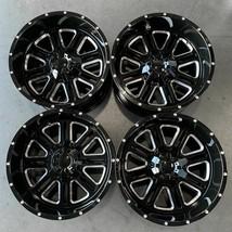 Used 22x12 D6 fit Ford F250 F350 8x170 -44 Black Milled Wheels set(4) - $799.00