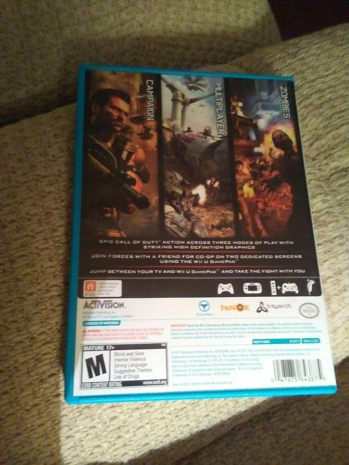 Call of Duty: Black Ops II (Nintendo Wii U, 2012) image 11