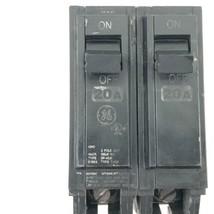 GE Type THQB Circuit Breaker 20 Amp 2 Pole 120/240V - $9.50