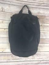 LL Bean Hanging Toiletry Personal Organizer Travel Gym Bag Black Nylon Z... - £26.50 GBP