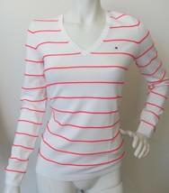 Tommy Hilfiger Damen pullover WEISS/PINK Gr.S  FREI Versand für DE-SALE ... - $51.80